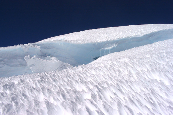 Crevasse and Penitentes on Mt. Rainier